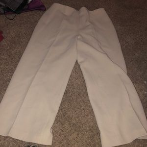 Cream colored pants suit